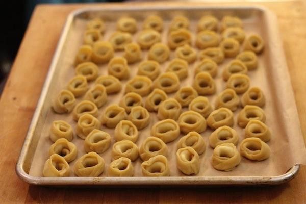 Fresh tortellini made by DePalma
