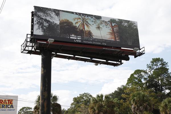 """Shana Lutker, """"Onward and Upward,"""" 10 billboards, Jackonville, FL, 2013."""
