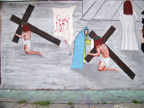 El Toro Meat Market, mural detail, 3171 Cesar Chavez, Los Angeles, 2004, Manuel G. Cruz, artist.