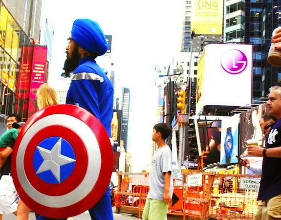 Captain America Dons a Turban