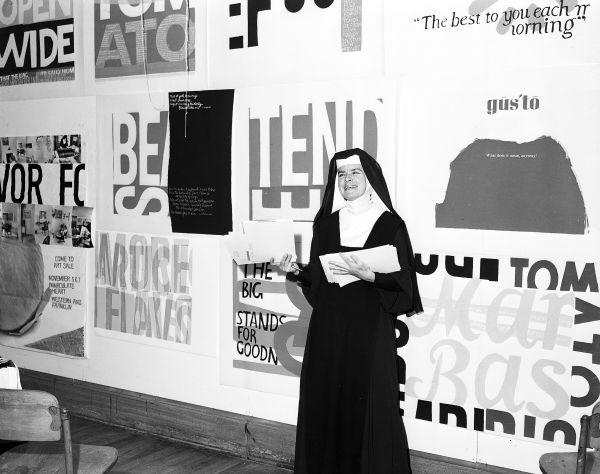 Corita, Immaculate Heart College, Los Angeles, 1964