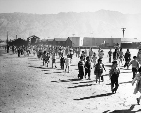 Toyo Miyatake, Manzanar Grammar School Fire Drill, 1942-1945
