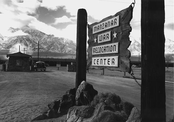 Ansel Adams, Entrance to Manzanar, 1943