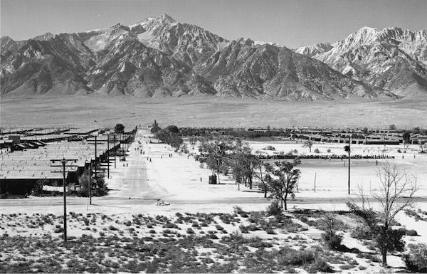 Ansel Adams, Manzanar from Guard Tower, 1943