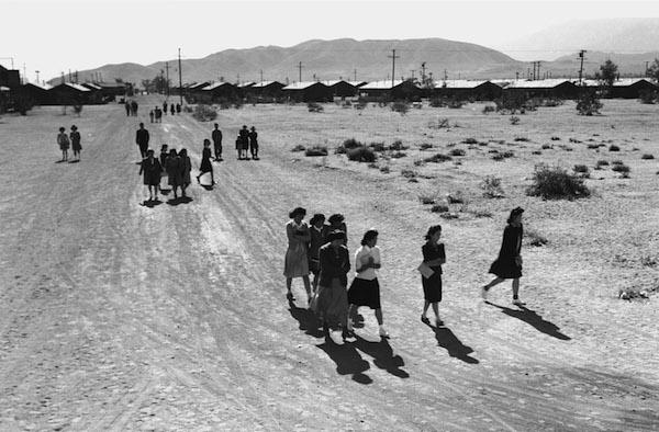 Ansel Adams, People Walking, 1943
