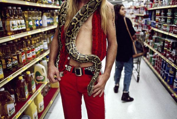 Steve McCurry, Man With Snake, 1992