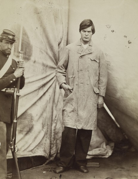 """Lewis Powell [alias Lewis Paine or Lewis Payne],"" by Alexander Gardner, 1865"
