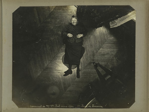 """Murder of Madame Veuve Bol, Projection on a Vertical Plane,"" by Alphonse Bertillon, 1904"
