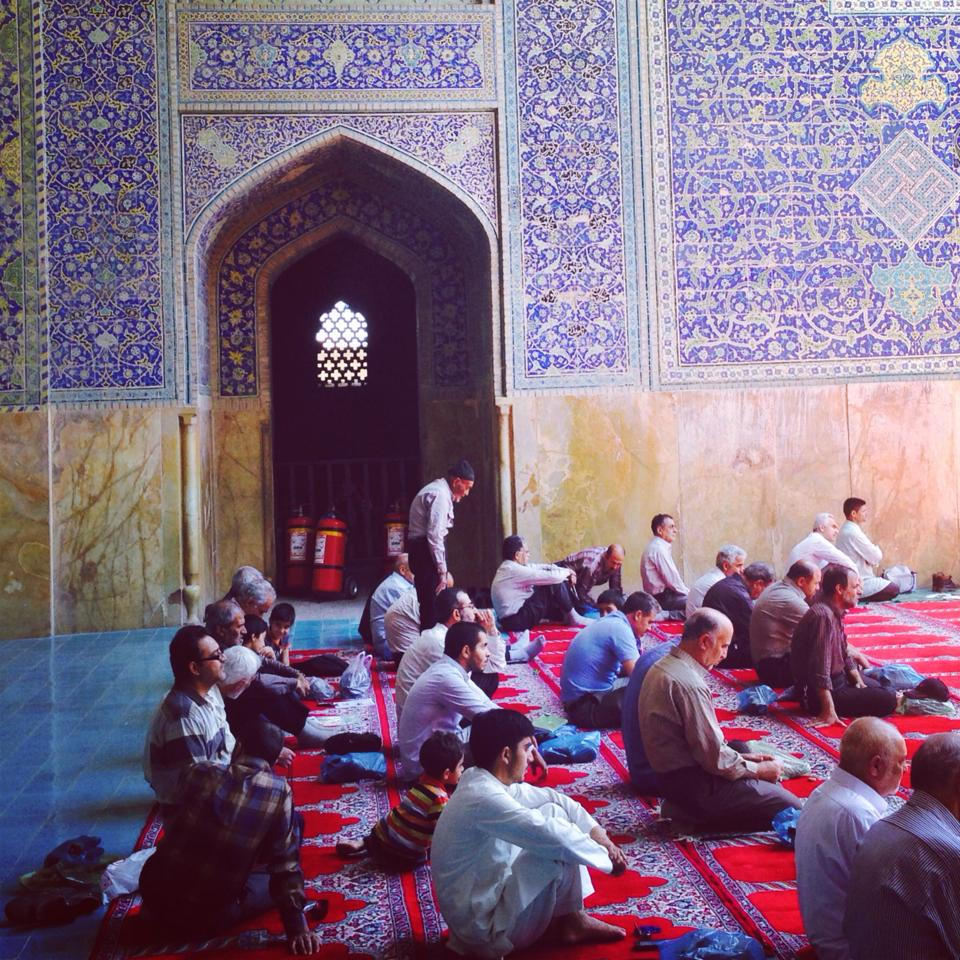 Friday prayers in the Jameh Abbasi Mosque, Esfahan