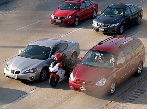 Does Dodging Traffic on a Motorcycle Save Lives on the 405?