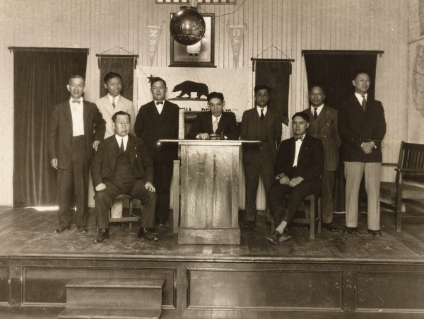 Y.C. Hong with other members of the Chinese American Citizens Alliance Members, which defended Chinese-American civil rights at a time when public sentiment was overwhelmingly anti-Chinese, circa 1928.