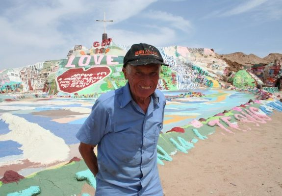 Meet the Man Who Built a Psychedelic Mountain in the Southern Californian Desert