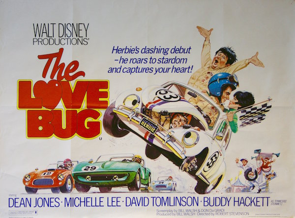 Disney's 1968 The Love Bug starring Dean Jones and an unforgettable 1963 VW Beetle launched the beloved franchise.