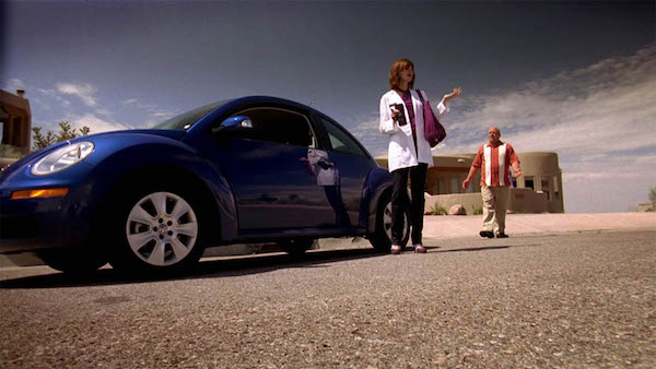 Walter White's purple-loving sister-in-law Marie drove an indigo 2006 new Beetle on the TV show Breaking Bad.