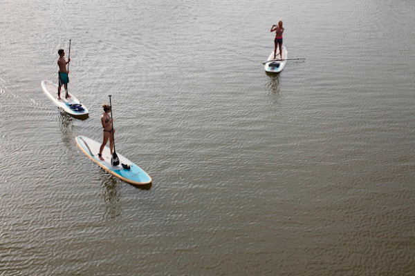 Paddleboarding, Trinity River, July 25, 2013.