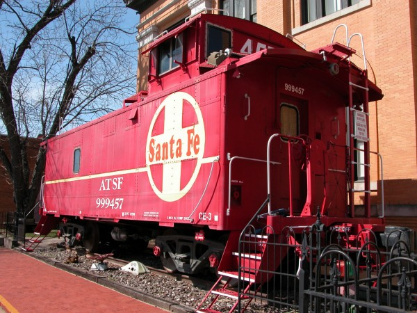 Santa Fe Caboose at the Layland Museum, Cleburne.