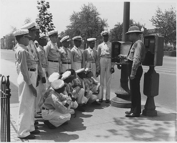 A school boys' Safety Patrol, late 1930s.