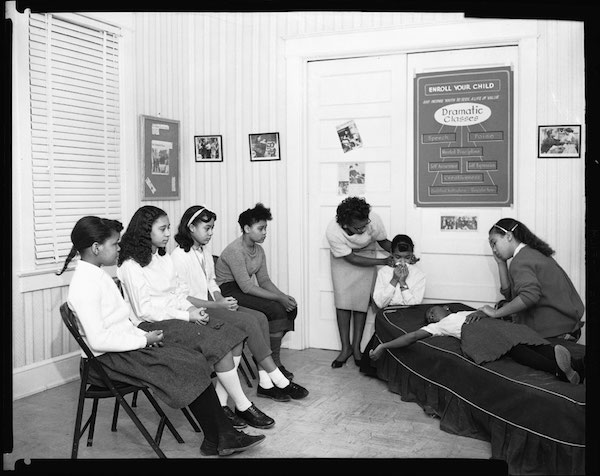Drama class at Goins Music School Group, February 1960.