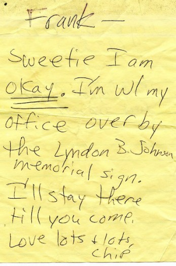 Note from Pentagon Worker, September 11, 2001.