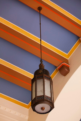 These Mission-style lanterns, like all the lights in Union Station, were custom designed.