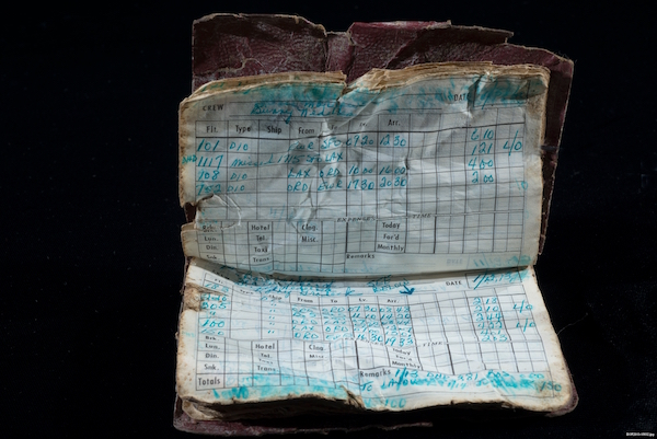 Flight Attendant Log Book, Flight 93, Shanksville, Pennsylvania, September 11, 2001.